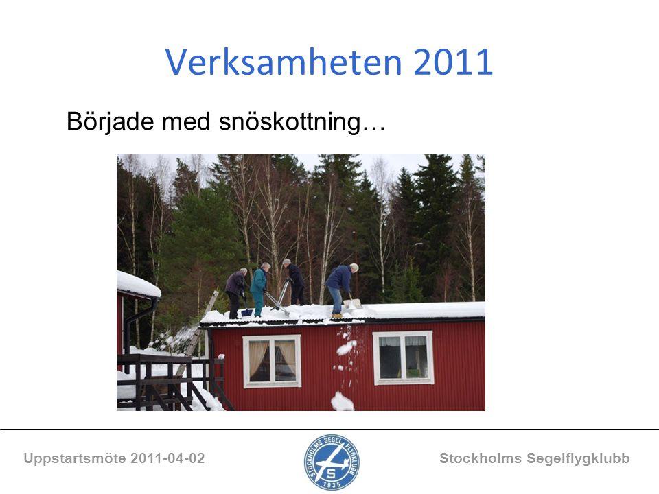 Verksamheten 2011 Började med snöskottning…