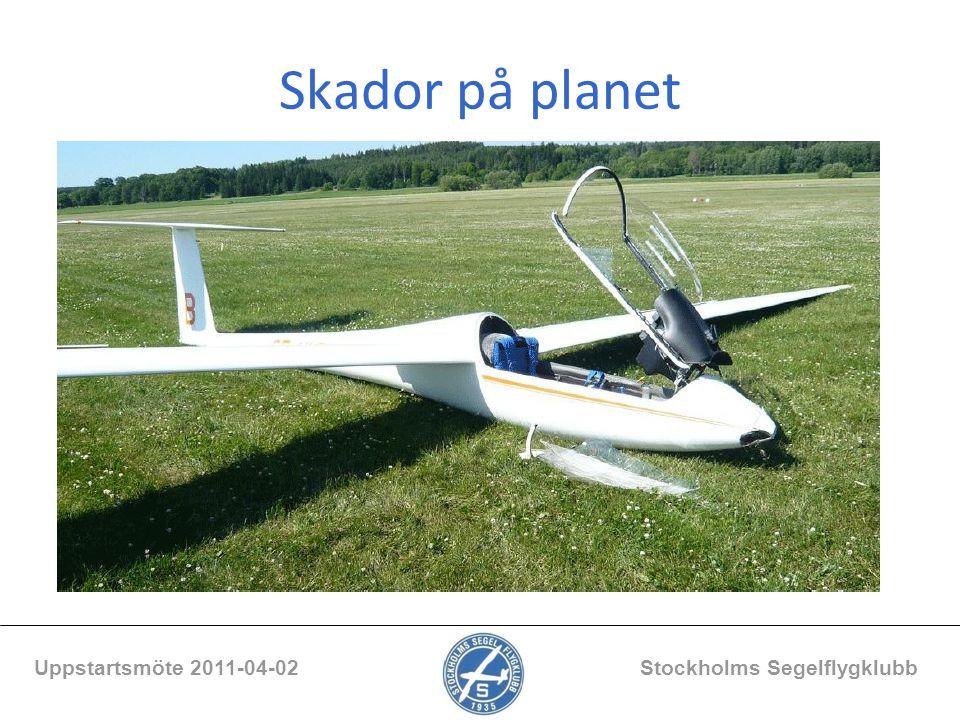 Skador på planet Uppstartsmöte 2011-04-02 Stockholms Segelflygklubb