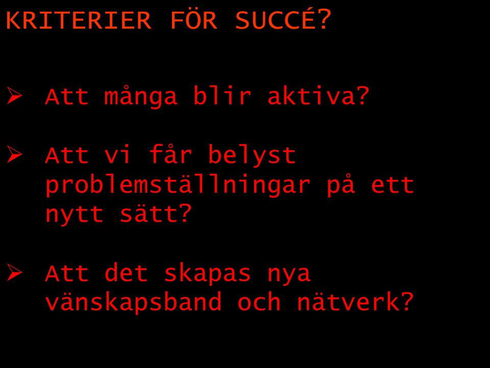 Succeskriterier .