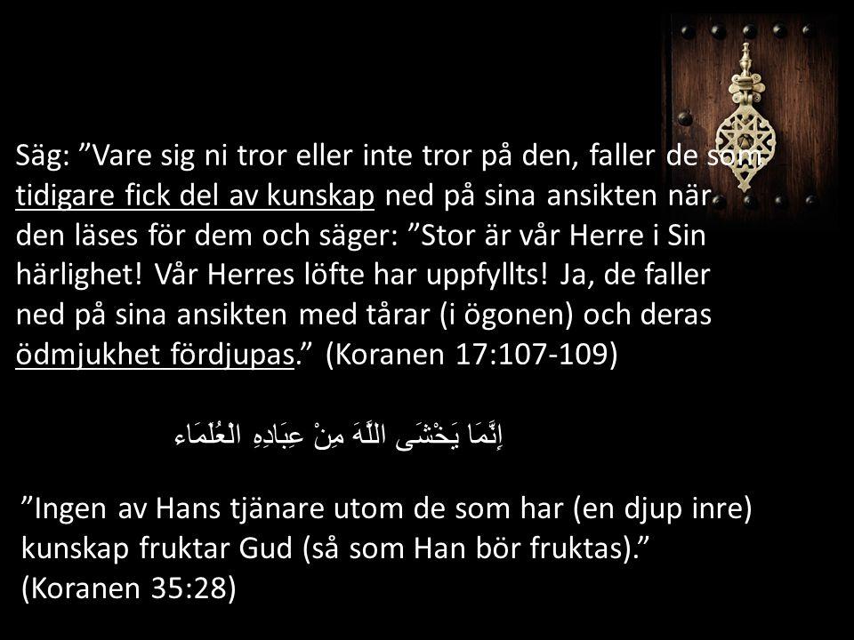 Salaf as-Saleh (Rättfärdiga föregångarna) Religiös kunskap är inte mängden texter du har memorerat.