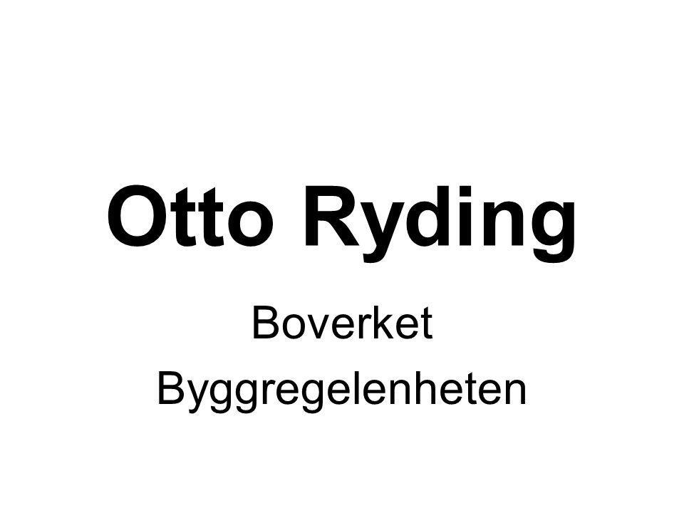 Otto Ryding Boverket Byggregelenheten