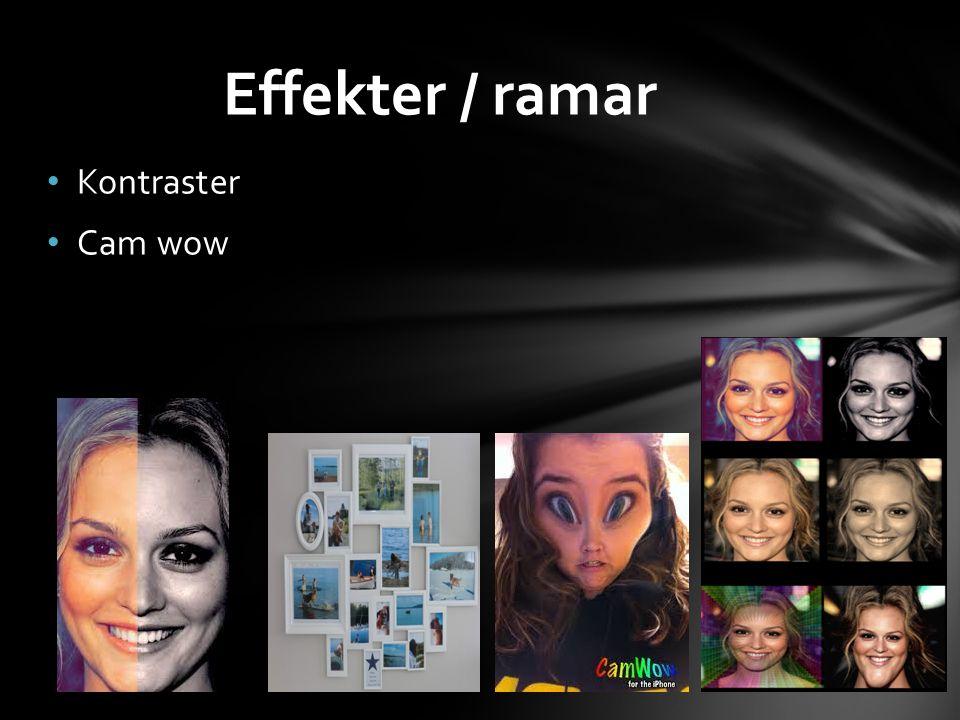 Kontraster Cam wow Effekter / ramar