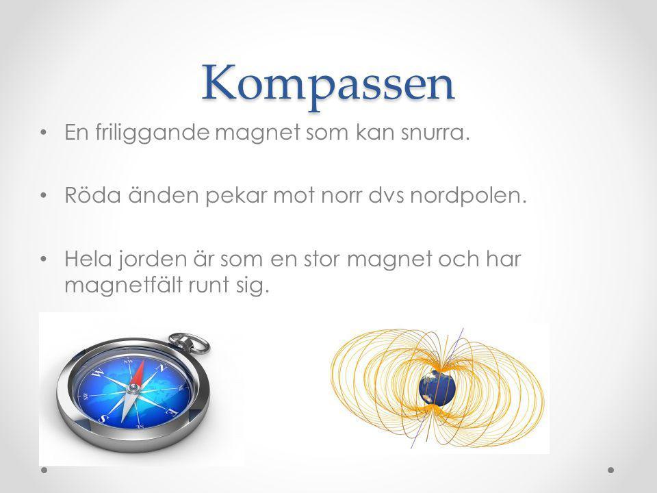 Atomer som magneter Då alla atomer har elektroner som rör sig runt atomkärnan.