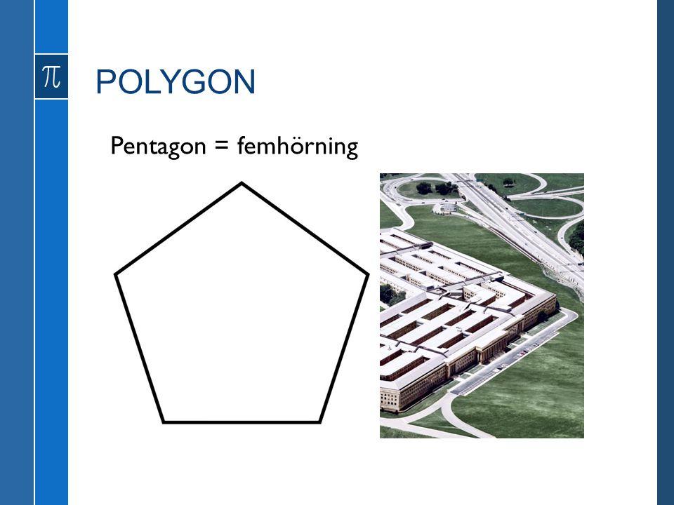 Pentagon = femhörning