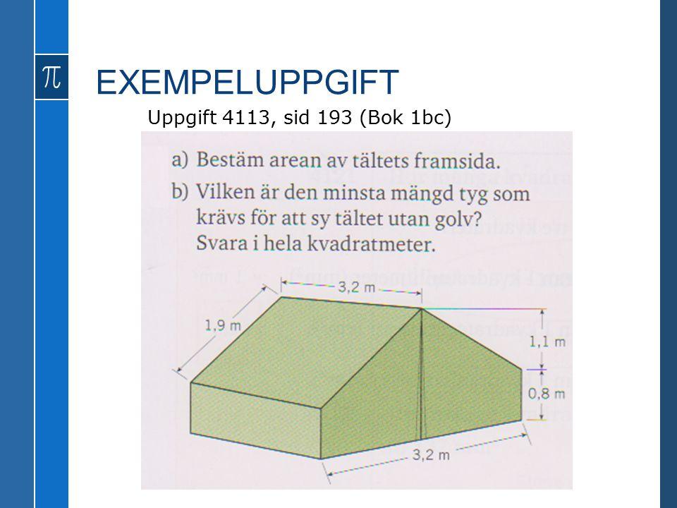 EXEMPELUPPGIFT Uppgift 4113, sid 193 (Bok 1bc)