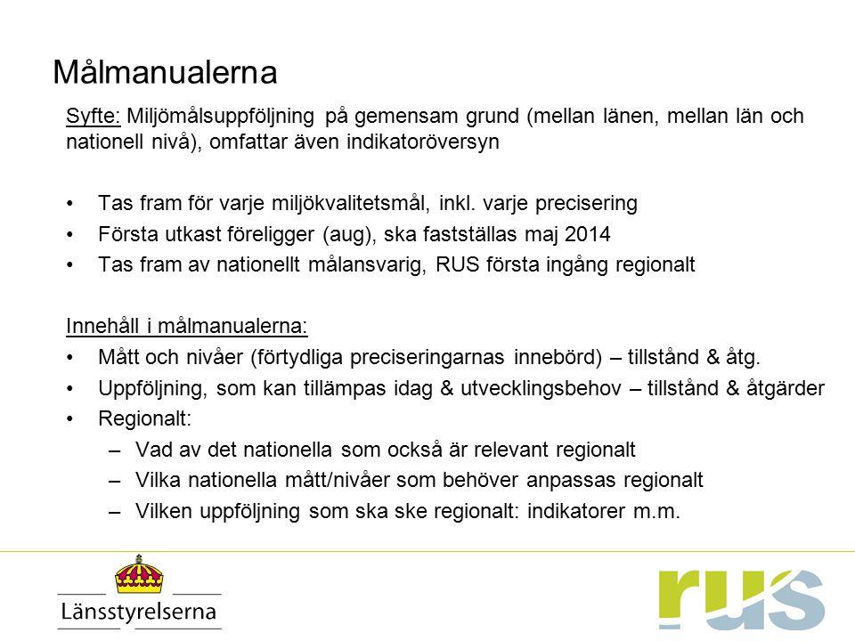 Miljömålssystemets samordnare – närmaste administratörer & eldsjälar.