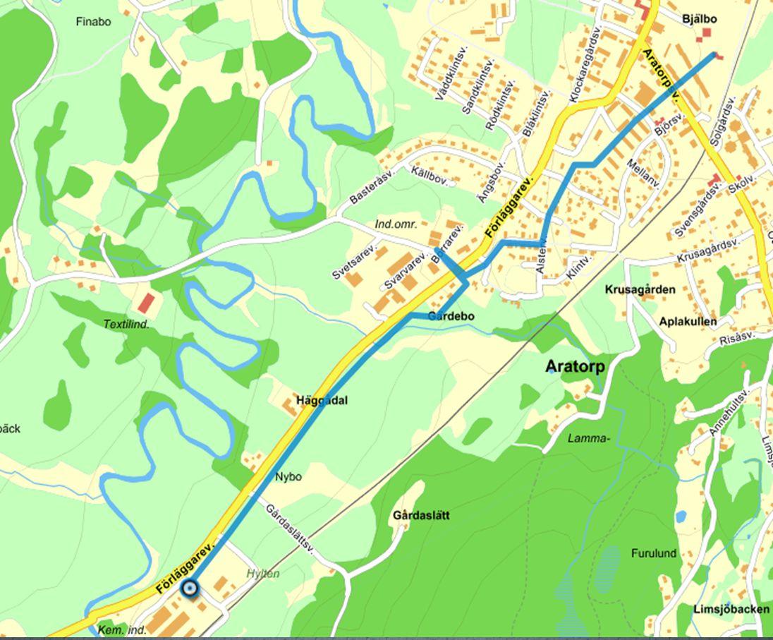Sammankoppling av fjärrvärmenäten i Kinna och Fritsla