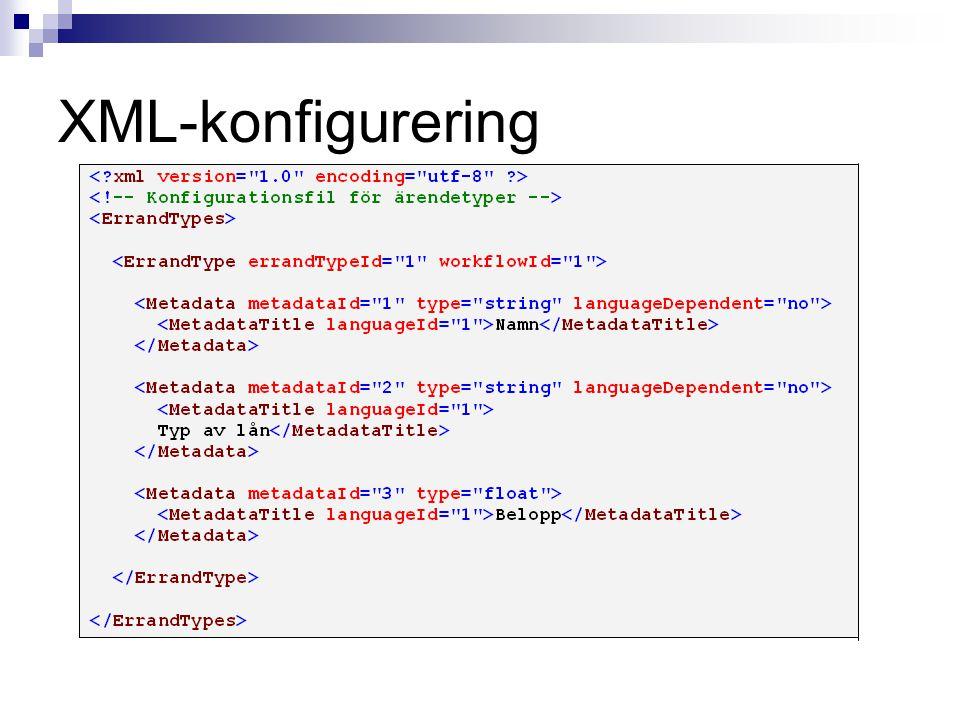 XML-konfigurering