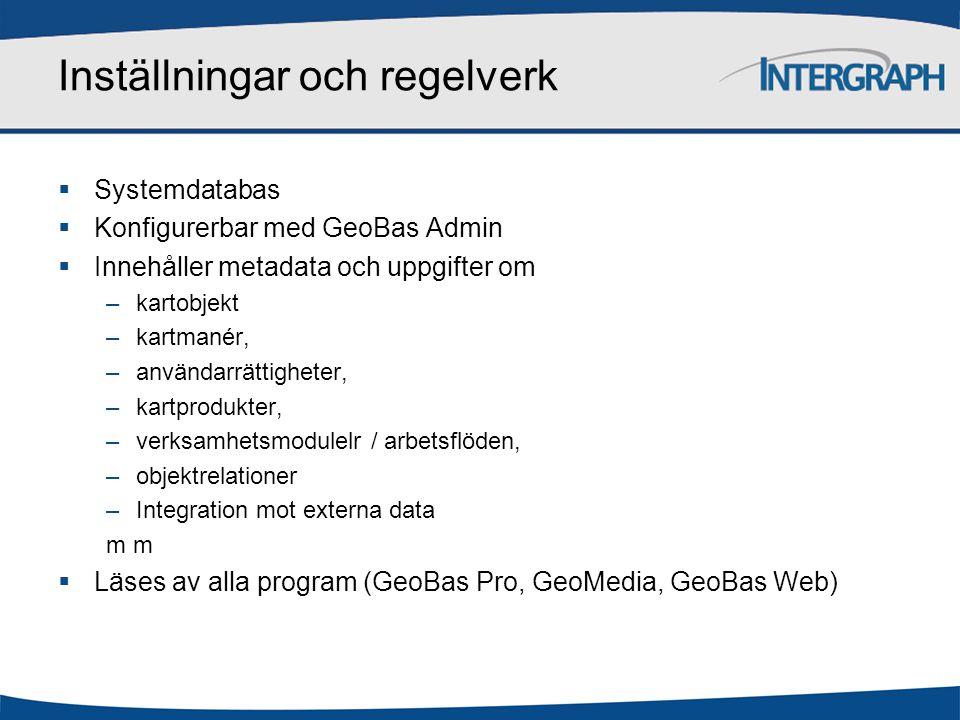 GeoBas Data Manager Export Geodatabas GeoBas systemskiss GeoMedia GIS GeoBas Pro Produktion GeoBas Web Tittskåp GeoBas Admin Konfiguration Filer Register Kartor CAD Inställningar och regelverk Externa data