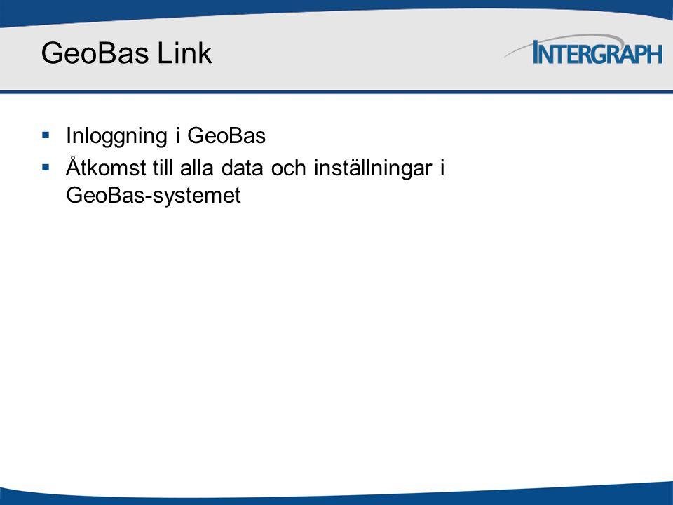 GeoBas Link Tillgång till katalog med geografisk information.