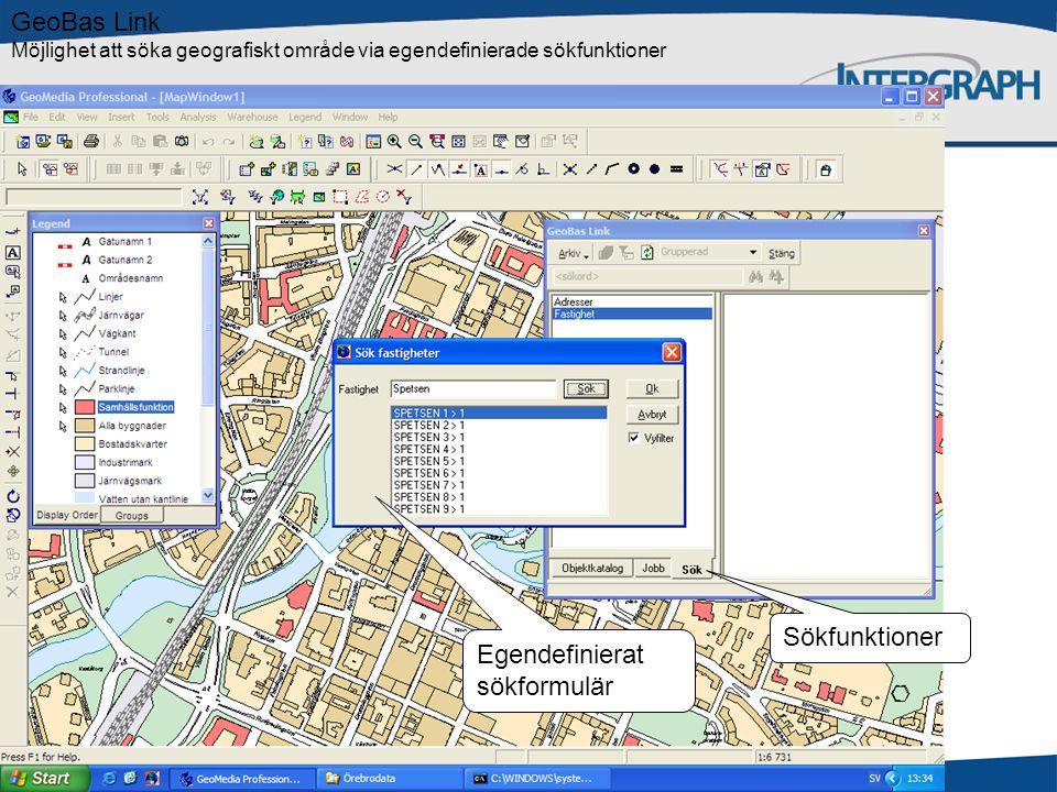 GeoBas Data Manager Export Externa data Geodatabas Inställningar och regelverk Filer Register Kartor GeoBas Admin CAD Konfiguration GeoBas systemskiss GeoBas Web Tittskåp GeoMedia GIS GeoBas Pro Produktion