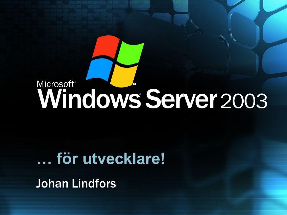 … för utvecklare! Johan Lindfors