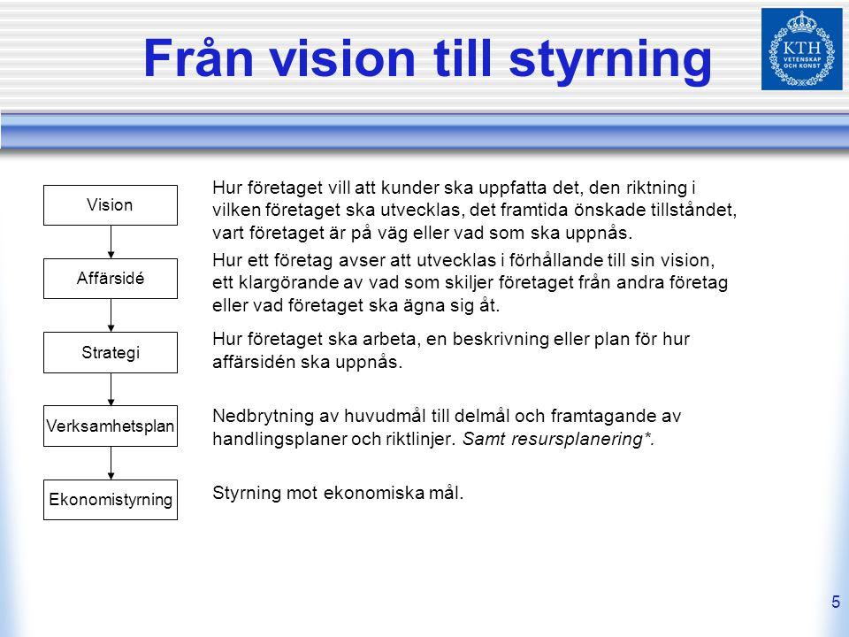26 Strategikarta, styrkort och handlingsplan