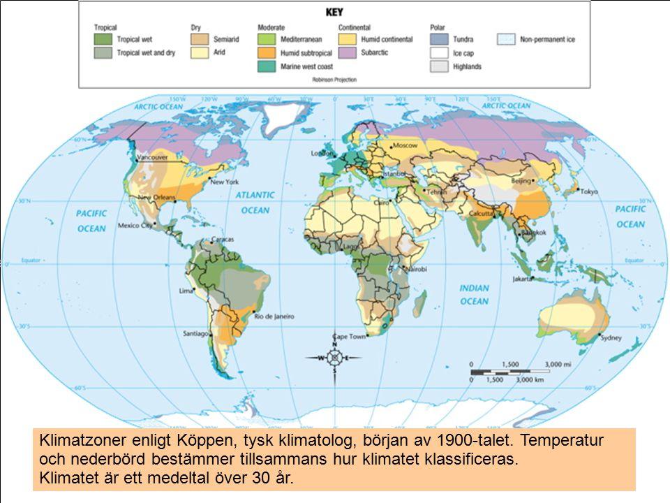 13.03.07Ilmatieteen laitos / PowerPoint ohjeistus18 Klimatzoner enligt Köppen, tysk klimatolog, början av 1900-talet.