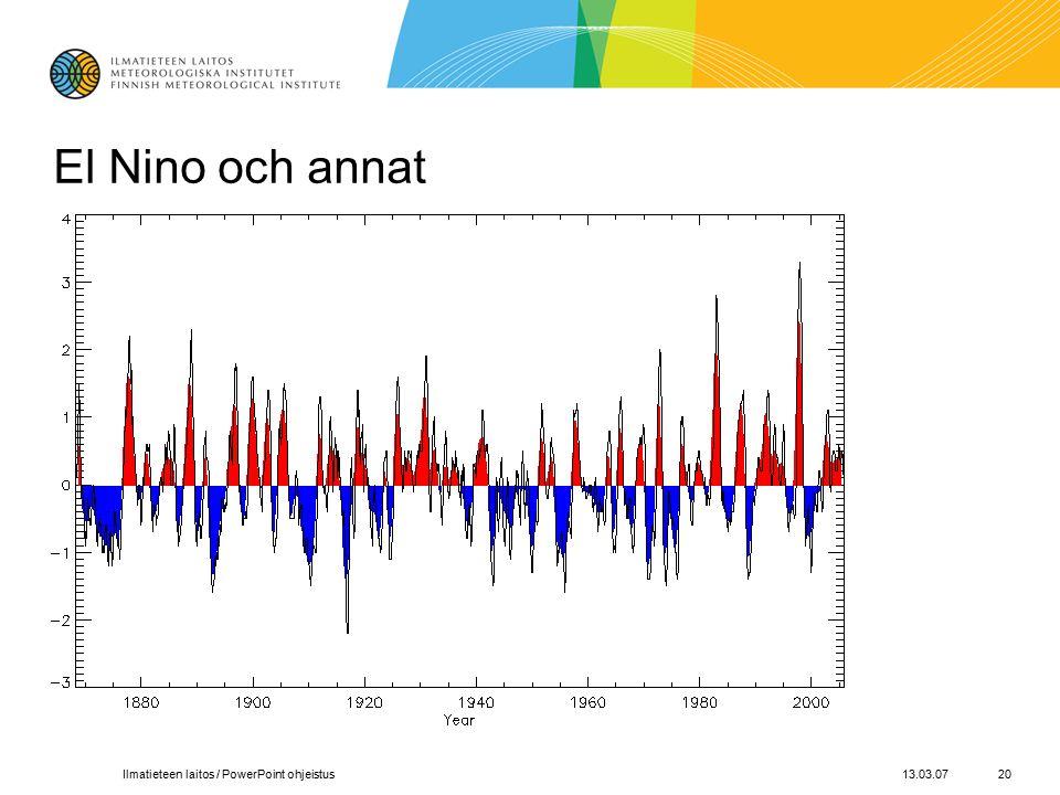 13.03.07Ilmatieteen laitos / PowerPoint ohjeistus20 El Nino och annat