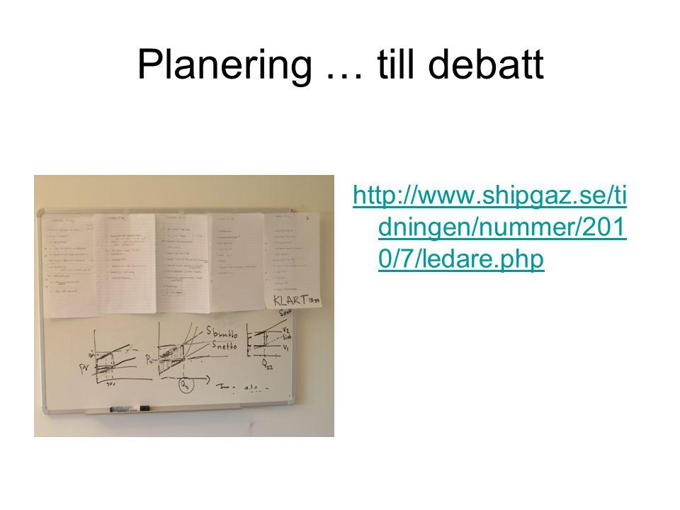 Planering … till debatt http://www.shipgaz.se/ti dningen/nummer/201 0/7/ledare.php