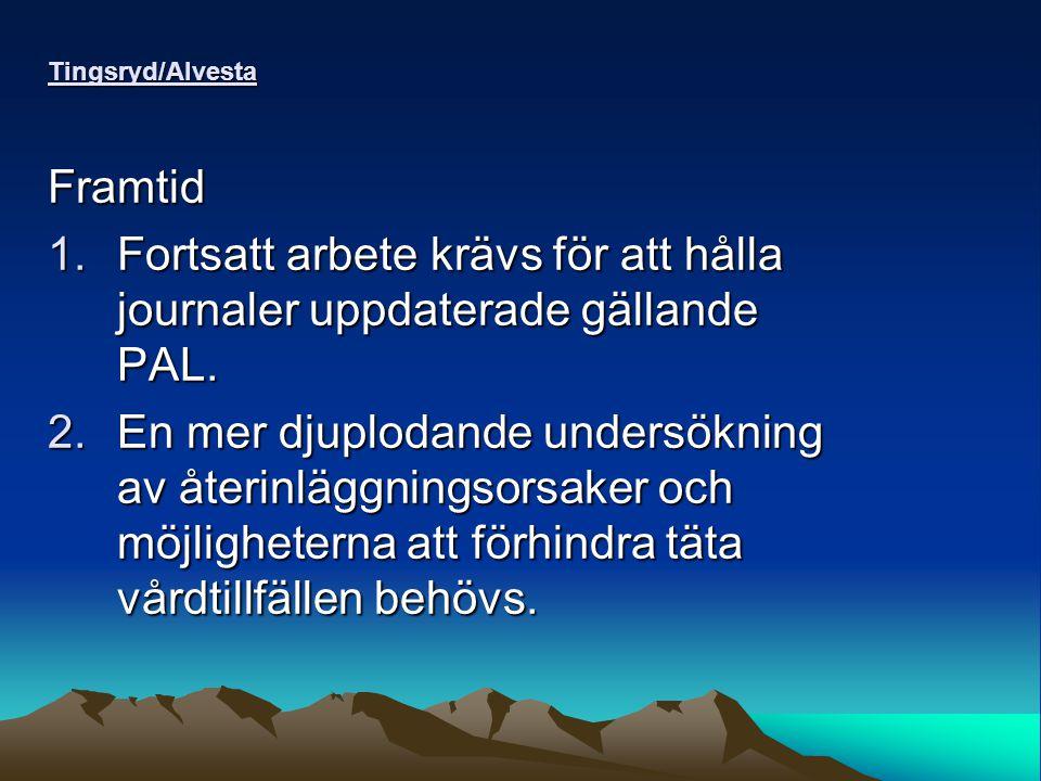 Tingsryd/Alvesta Framtid 1.Fortsatt arbete krävs för att hålla journaler uppdaterade gällande PAL.