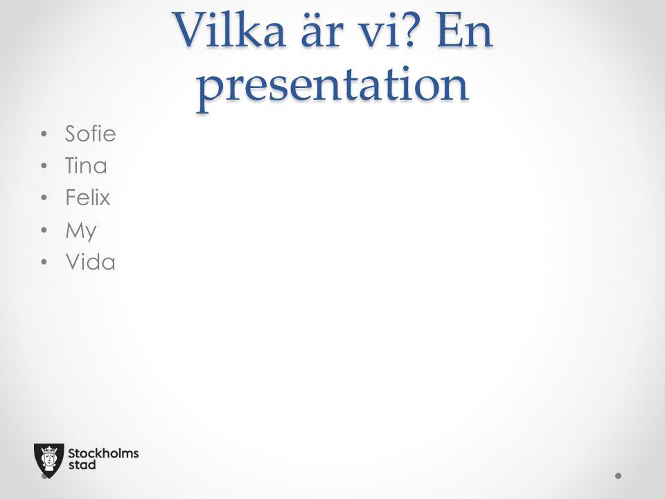 Vilka är vi? En presentation Sofie Tina Felix My Vida