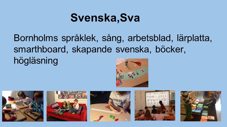 Svenska,Sva Bornholms språklek, sång, arbetsblad, lärplatta, smarthboard, skapande svenska, böcker, högläsning