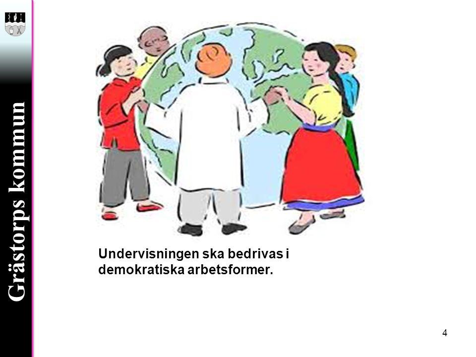 Grästorps kommun Undervisningen ska bedrivas i demokratiska arbetsformer. 4