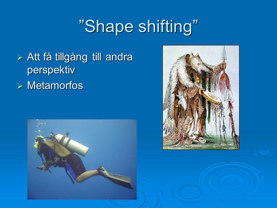 """""""Shape shifting""""  Att få tillgång till andra perspektiv  Metamorfos"""