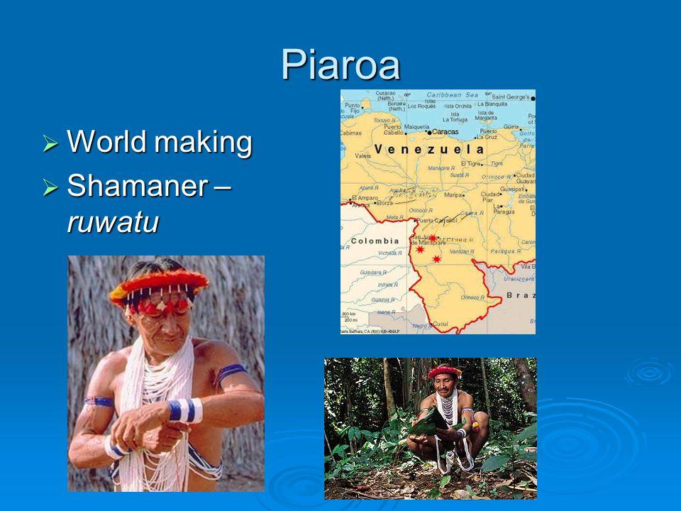 Piaroa  World making  Shamaner – ruwatu