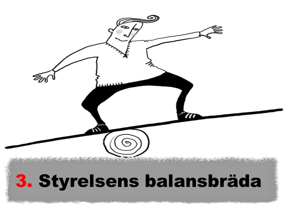 3. Styrelsens balansbräda
