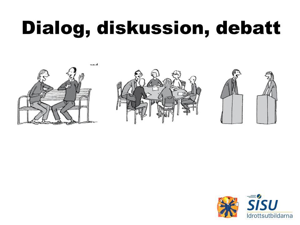 Dialog, diskussion, debatt