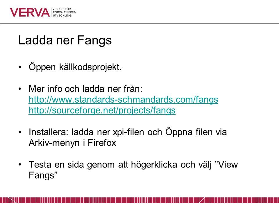 Ladda ner Fangs Öppen källkodsprojekt.