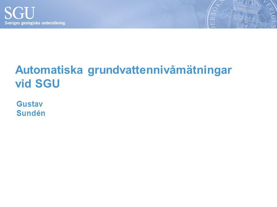Automatiska grundvattennivåmätningar vid SGU Gustav Sundén