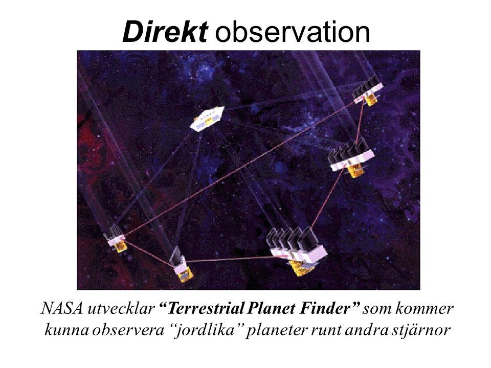 """NASA utvecklar """"Terrestrial Planet Finder"""" som kommer kunna observera """"jordlika"""" planeter runt andra stjärnor Direkt observation"""