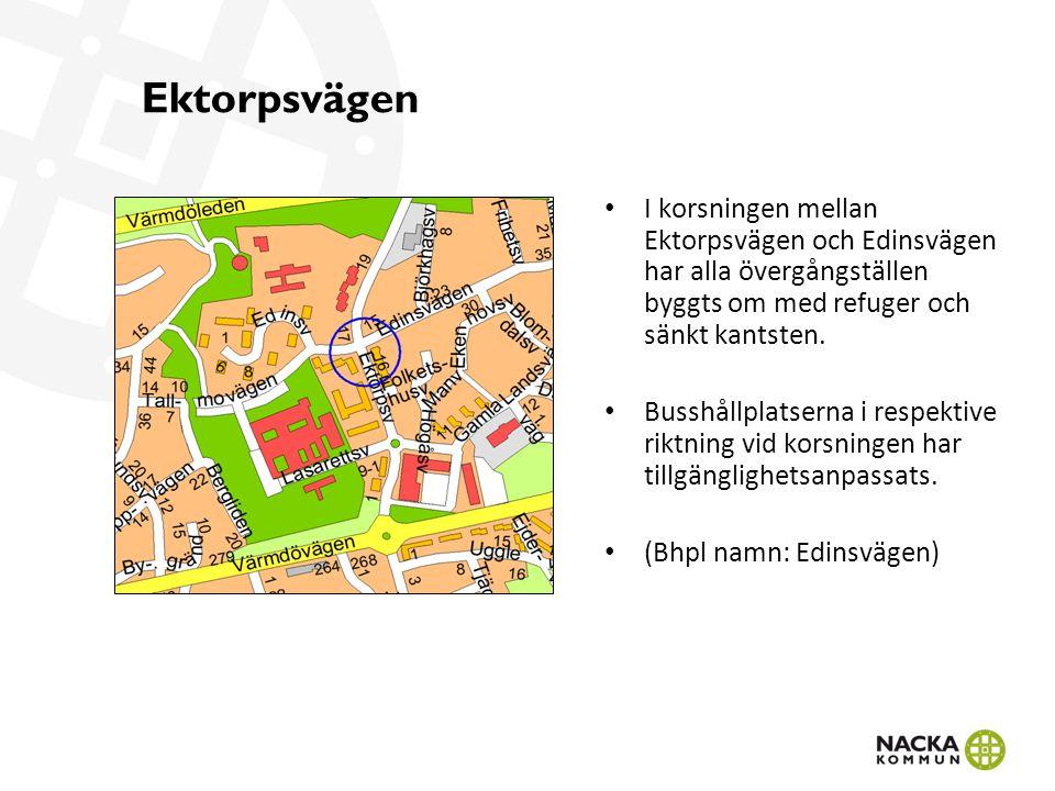 Sockenvägen/Trädgårdsvägen/Trappvägen I korsningen mellan Sockenvägen, Trädgårdsvägen och Trappvägen har alla övergångställen tillgänglighetsanpassats.