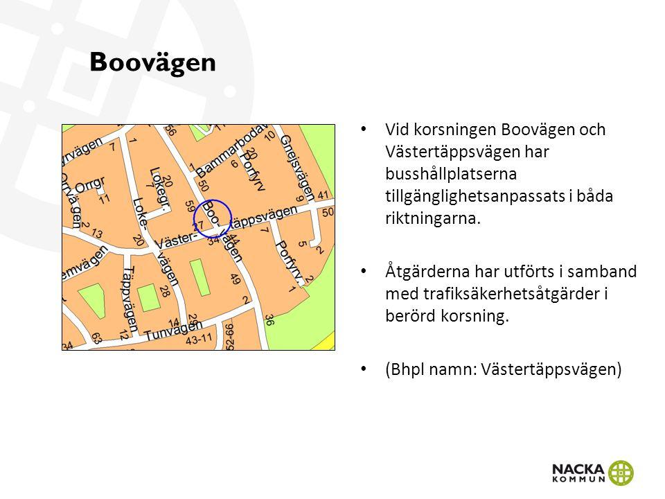Storholmsvägen På Storholmsvägen har busshållplatserna i båda riktningarna åtgärdats.