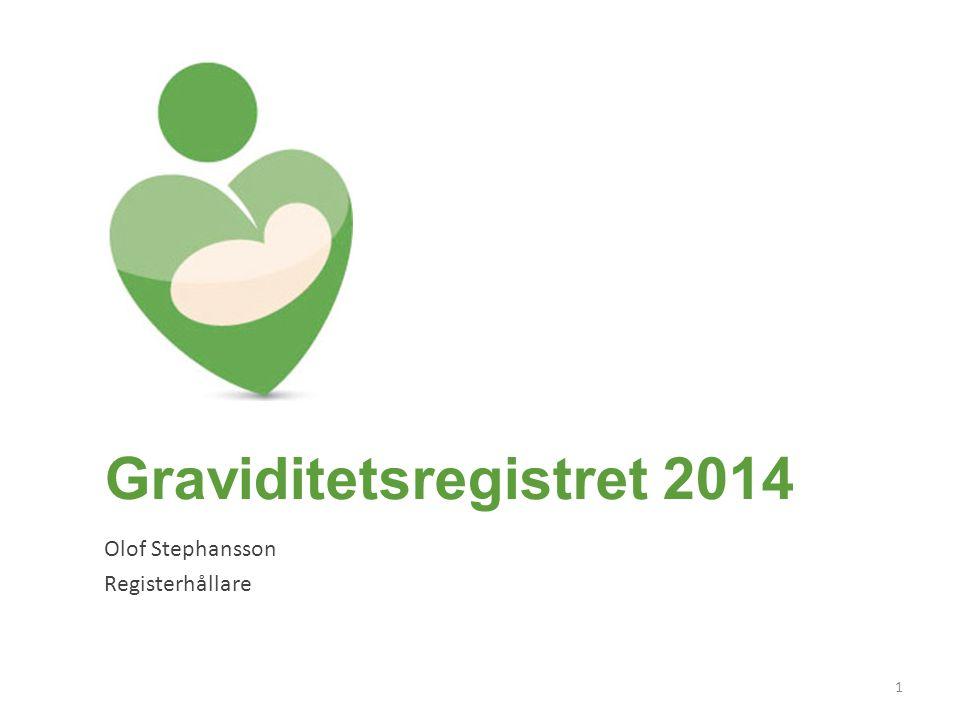 Graviditetsregistret 2014 Olof Stephansson Registerhållare 1