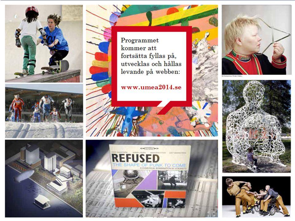 Programmet kommer att fortsätta fyllas på, utvecklas och hållas levande på webben: www.umea2014.se