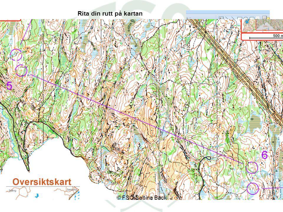 Rita din rutt på kartan © FSO/Sabina Bäck