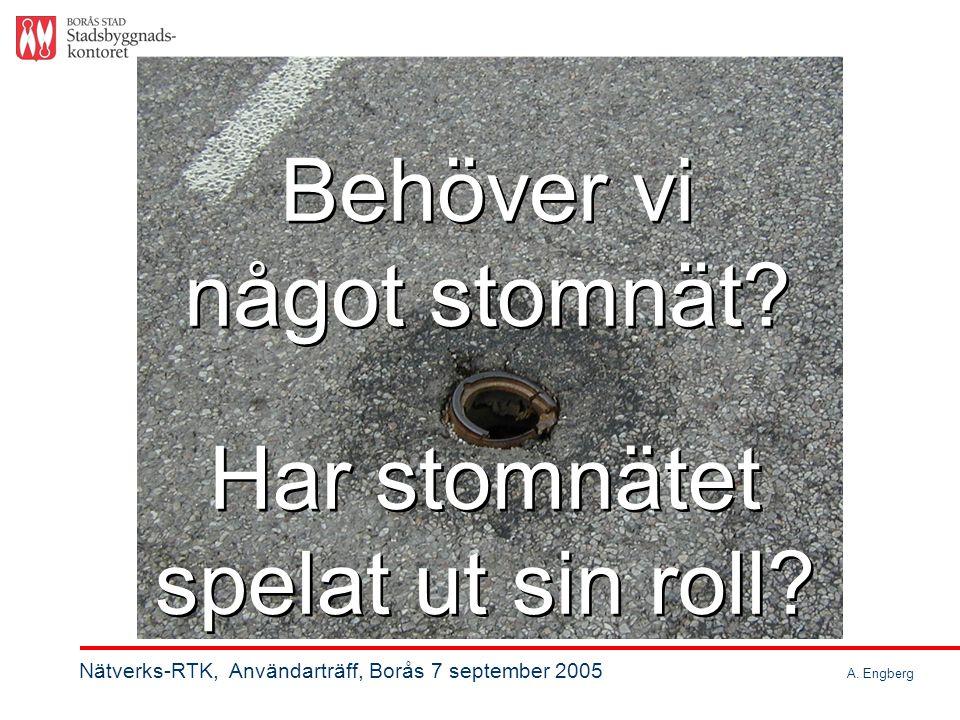 Exploateringsområde, öppen terräng, 200 villatomter med nya vägar Exploateringsområde, öppen terräng, 200 villatomter med nya vägar Nätverks-RTK, Användarträff, Borås 7 september 2005 A.