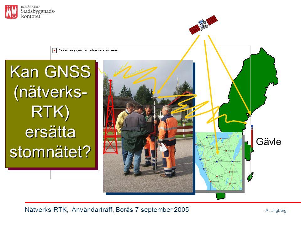 Nätverks-RTK 916 km 2 Kommunens yta 916 km 2 Nätverks-RTK, Användarträff, Borås 7 september 2005 A.