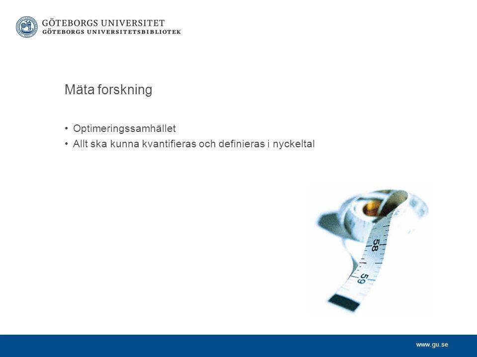 www.gu.se Sakkunnigbedömning/Peer-review Alltings grundval – kollegors expertis Tillsättningar, befordran, publikationsbedömning, ämnesutvärdering, RED10