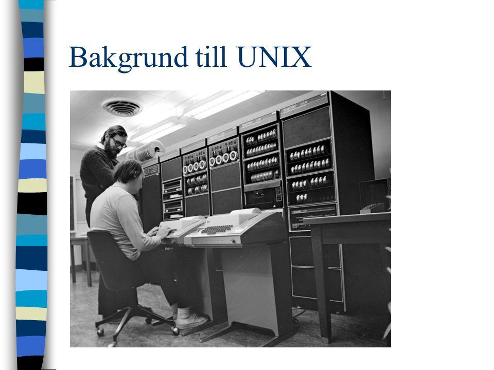 Bakgrund till UNIX