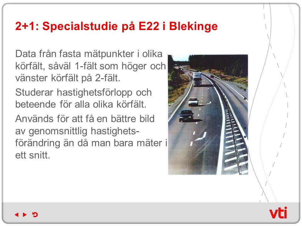 Hastighetsmätningar: omfattning och tidpunkt Etapp 2: Mätningar v 38-40 2009 resp 2010 2-fältsväg 90  80 km/h (10 + 10) 2-fältsväg 70  80 km/h (5 + 5) 2-fältsväg 90  70 km/h (5 + 5) 2-fältsväg 110  90 km/h (2) Spridningseffekter på 5 olika vägsträckor