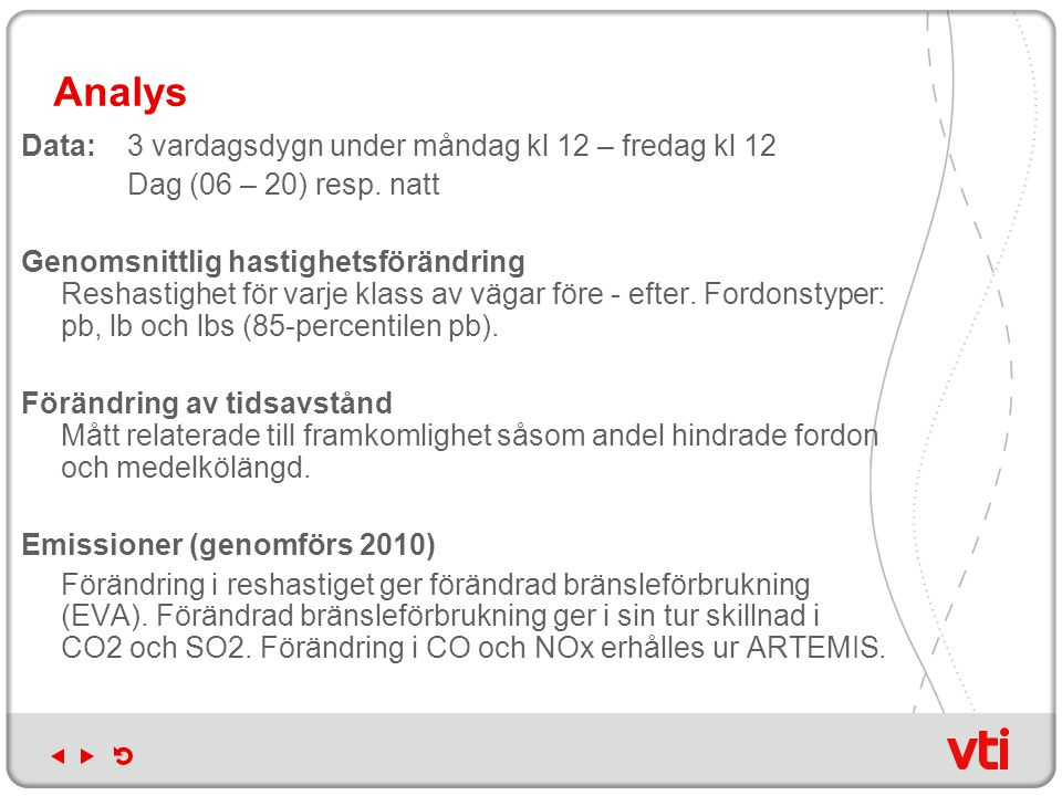 Analys Data:3 vardagsdygn under måndag kl 12 – fredag kl 12 Dag (06 – 20) resp.