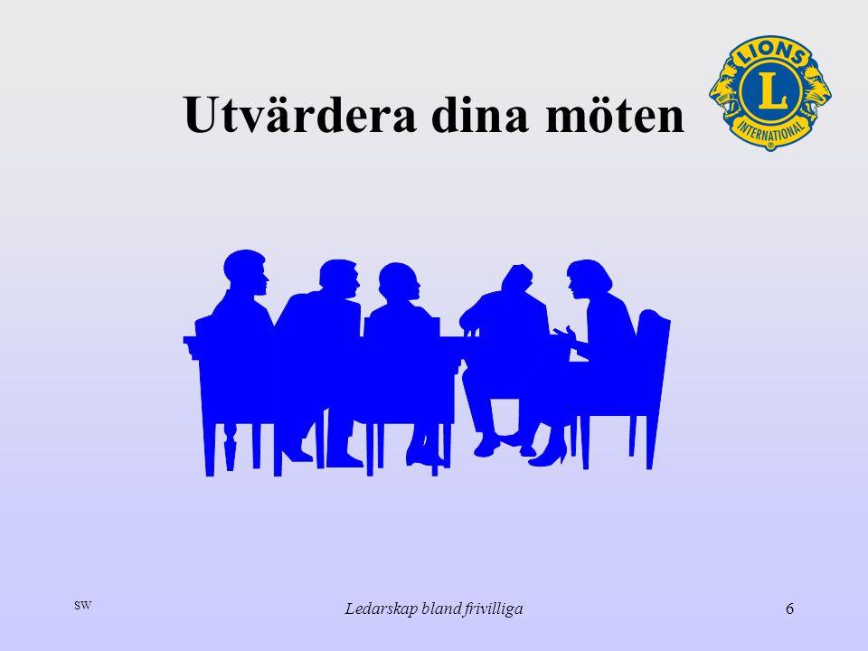 SW Ledarskap bland frivilliga6 Utvärdera dina möten