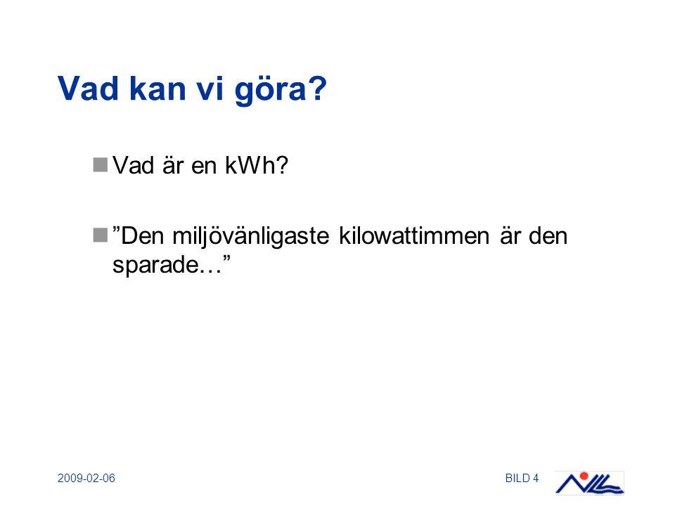 2009-02-06BILD 4 Vad kan vi göra. Vad är en kWh.