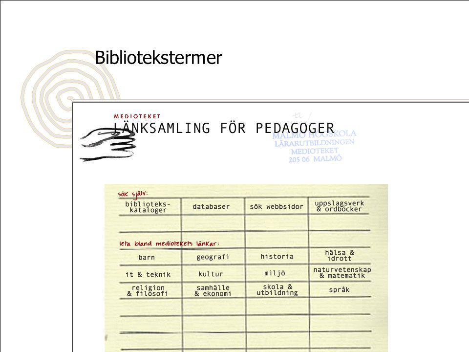 Mer om PedagogGuiden Rapport till BIBSAM: www.pedagogguiden.se/bibsamrapport.pdf www.pedagogguiden.se/bibsamrapport.pdf