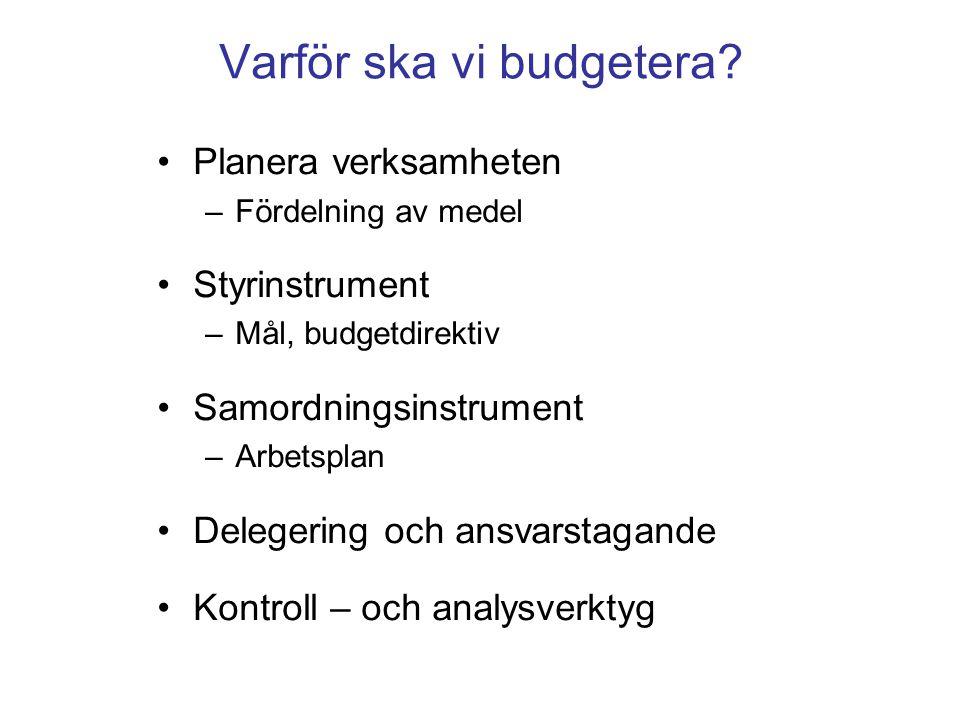 Varför ska vi budgetera.