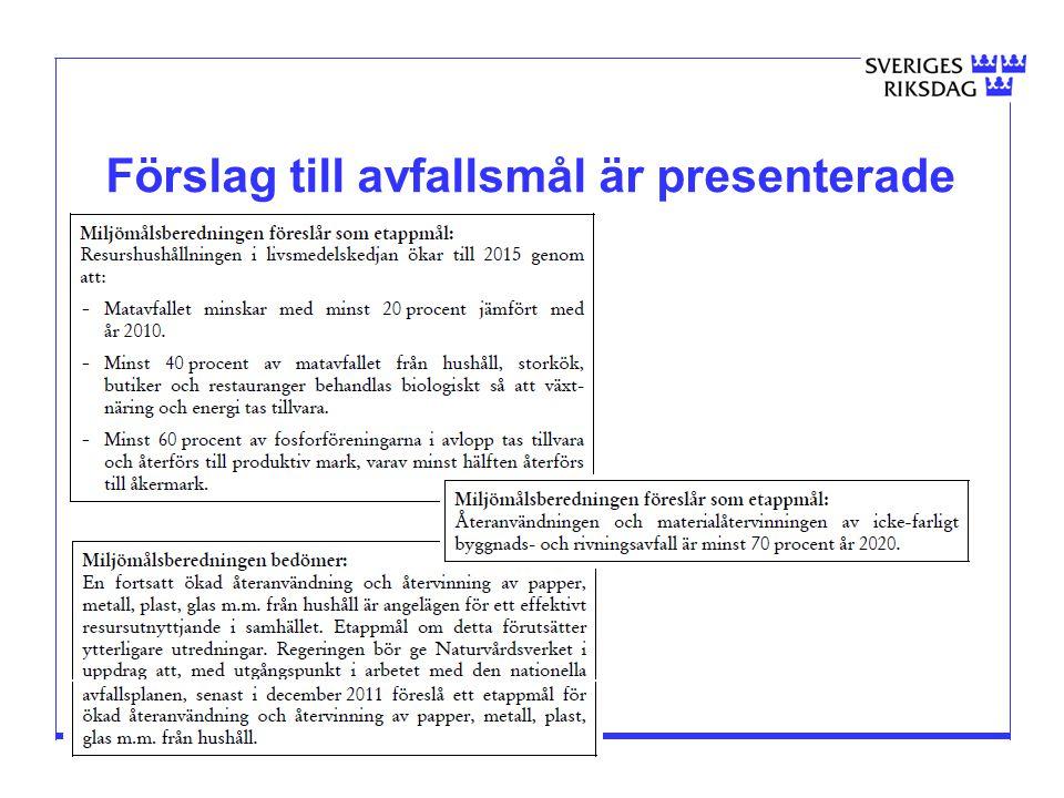 2015-03-30 Förslag till avfallsmål är presenterade