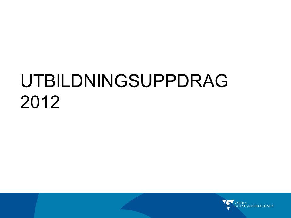 UTBILDNINGSUPPDRAG 2012