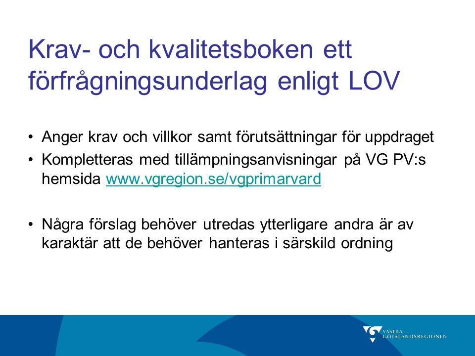 Fortsatt utveckling av VG PV 3.