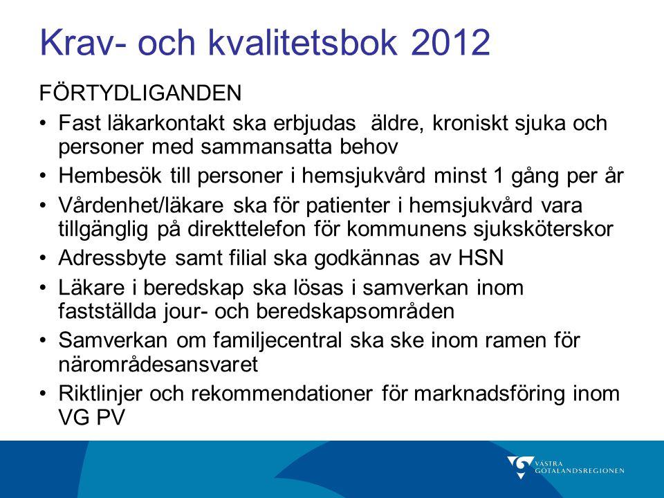 VG Primärvård KoK 2012 kap 6 samt Budget 2012